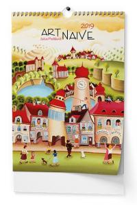 Kalendář 2019-Art Naive - nástěnný
