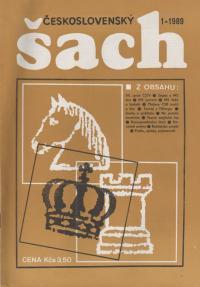 Československý šach 1989 - č. 1, 3, 5, 6, 10