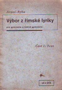 Výbor z římské lyriky