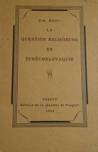 La Question religieuse en Tchécoslovaquie