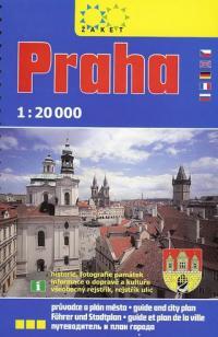 Praha-průvodce a plán města 1:20 000